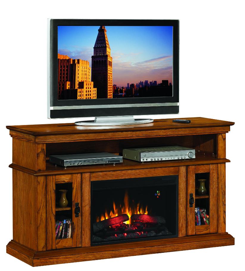 Oak Electric Fireplace Tv Stand Fireplace 60 Brookfield