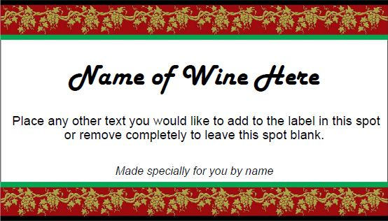 Holiday wine label template Diy wine label ideas Pinterest