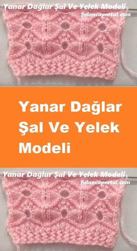 Yanar Dağlar Şal Ve Yelek Modeli #shawlcrochetpattern