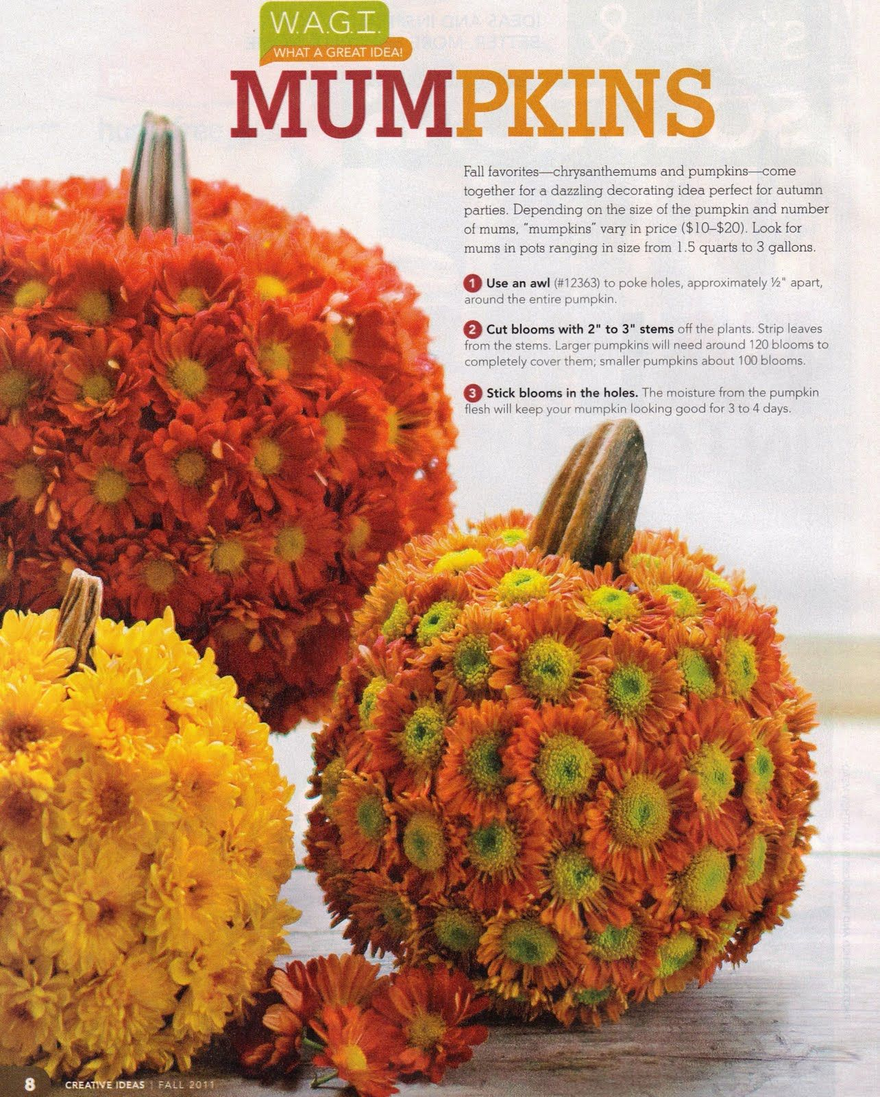 Love this The directions are for real pumpkins & mums but I m