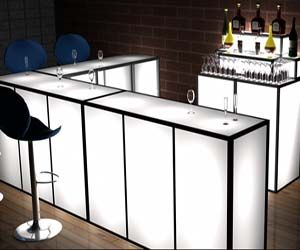 Luxury Portable Bar with Stools