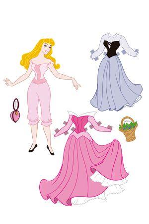 Boneca para vestir da Aurora