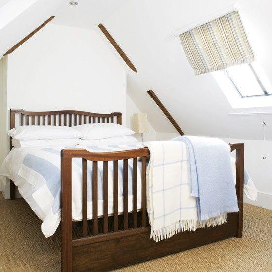 Dunkles Holz Schlafzimmer im Dachgeschoss Wohnideen Living Ideas - schlafzimmer einrichten dachgeschoss