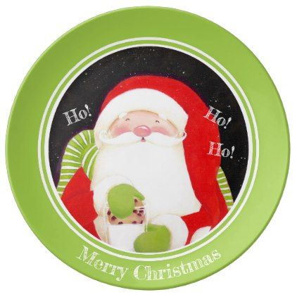 santa classic porcelain christmas plate