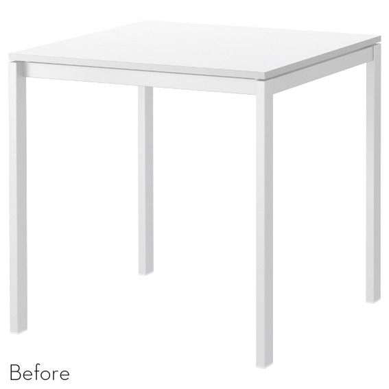 Before & After Modern IKEA Table Makeover