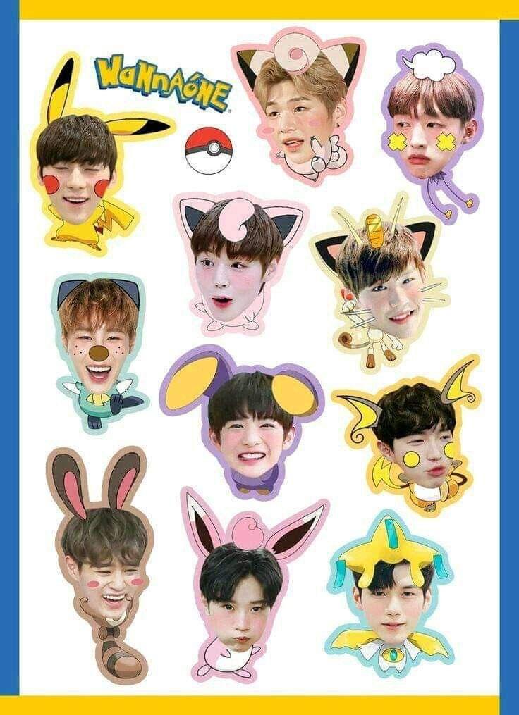 Pin by Hạ Vỹ on Wanna one Chibi, Cute stickers, Fan art