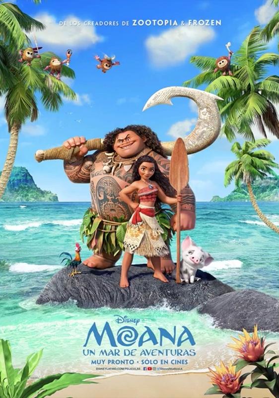 Moana Vaiana Disney Movie Animacao Aventura Princesa Elizabeth