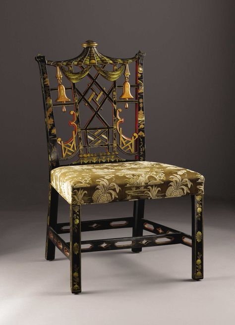 A Chinese Chippendale Style Side Chair English Early Twentieth
