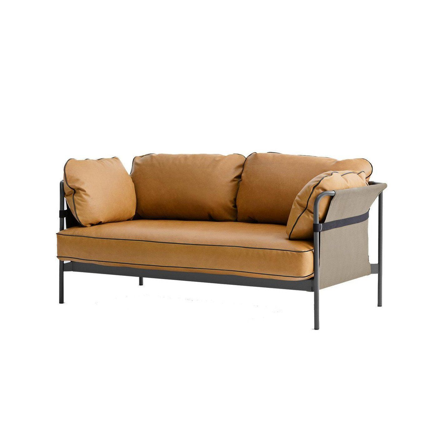 Hay Can 2 Seater Sofa Frame Charcoal Ambientedirect