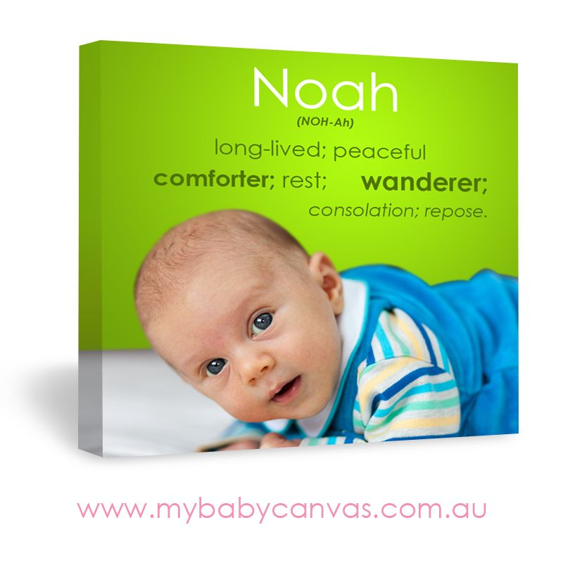 Noah Collection | Baby Name Meaning Canvas Design