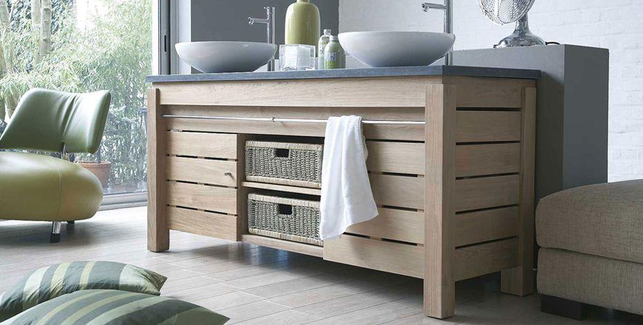 meuble sdb bois naturel Salle de bain design rangement et déco
