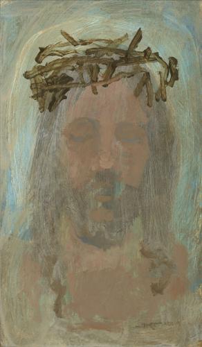 crown of thorns jesus christ religious city creek center salt lake city utah illume gallery fine art savior painting original artwork