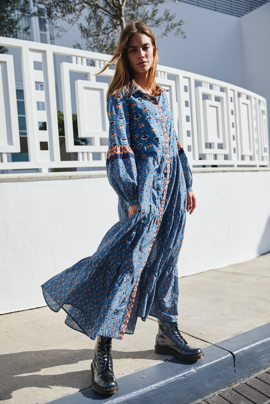 19ce487b74c Papillon Maxi Dress - Blue Floral Long Sleeve Maxi Dress - Blue Floral Maxi  Dresses -