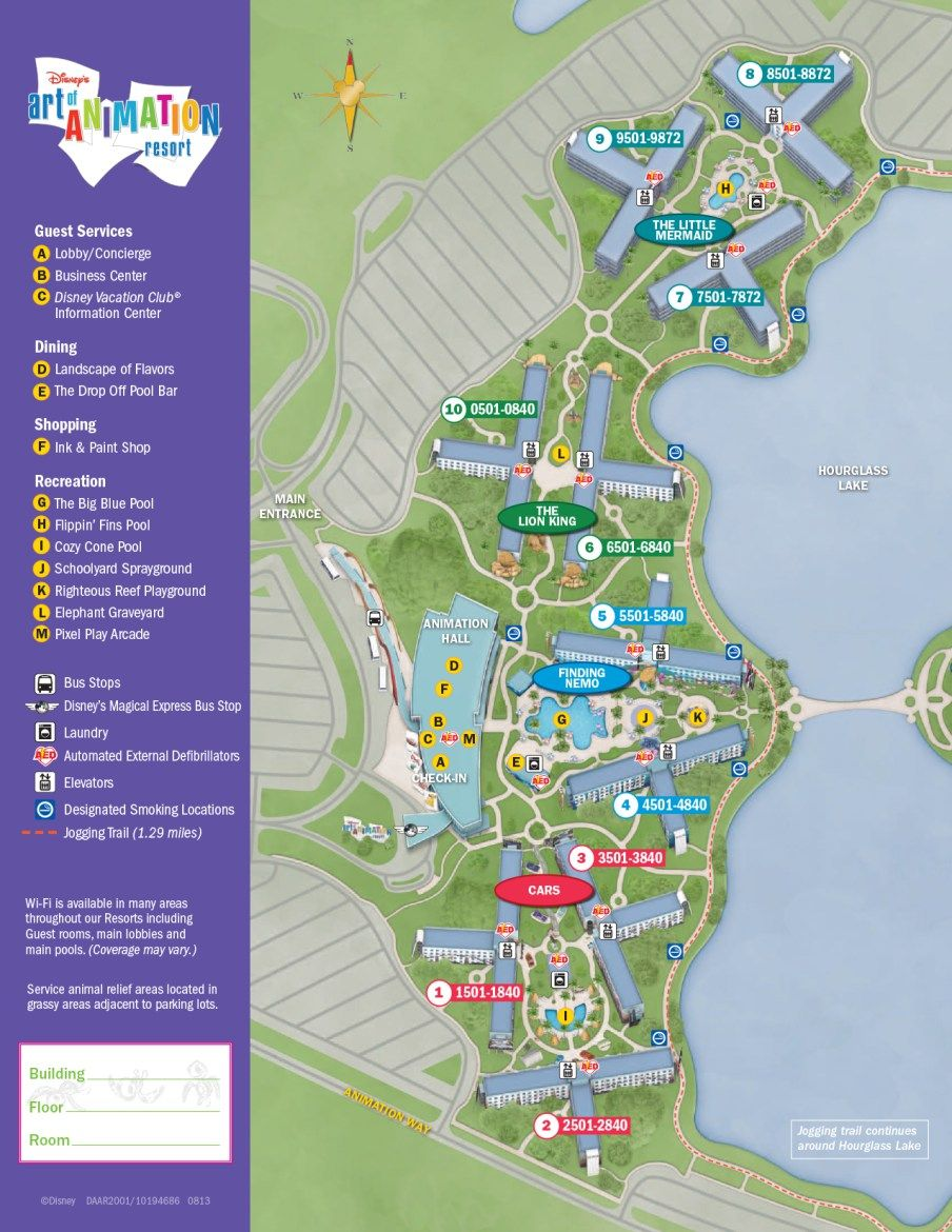 Art of Animation Resort Map Disney Vacation Pinterest
