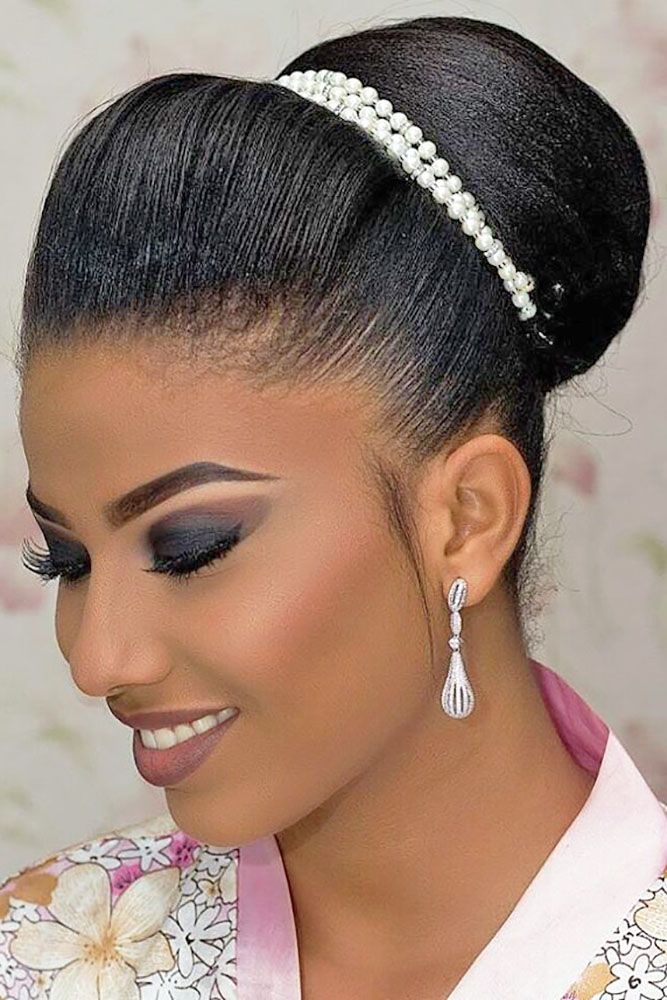 42 Black Women Wedding Hairstyles That Full Of Style Wedding Forward Black Wedding Hairstyles Black Natural Hairstyles Natural Hair Wedding