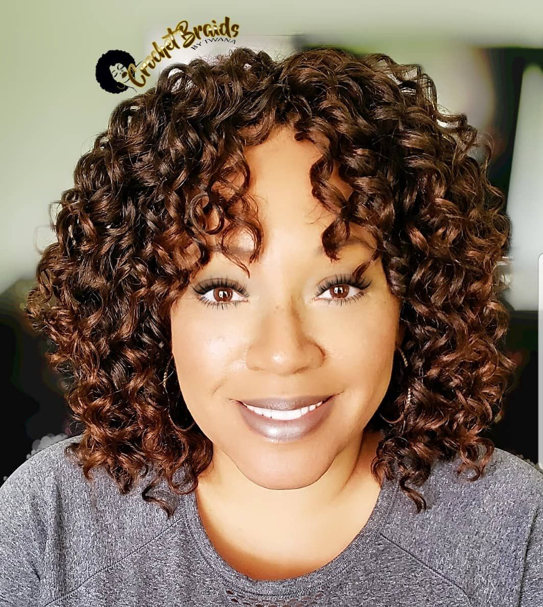 "Crochet Braids By Twana on Instagram: ""Crochet Braids featuring 10 Sassy Curl from the Afri Naptural 2x Caribbean Collection. Color 1B/30. 2 packs used. This hair is a great…"" #crochetbraids"