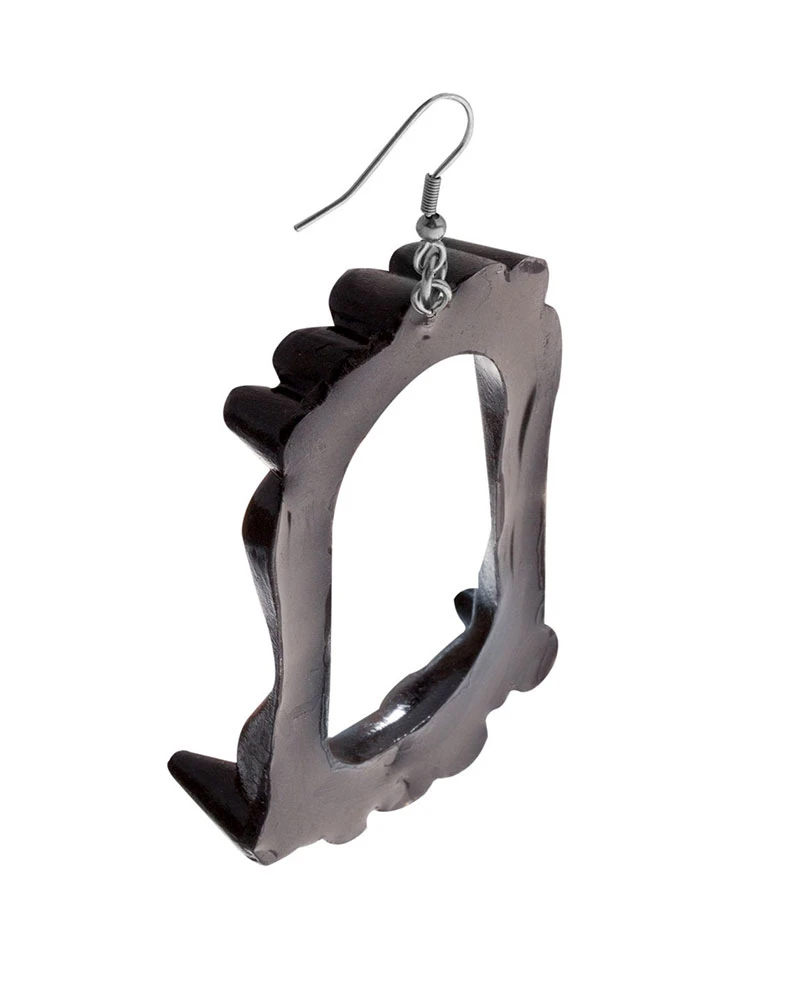 Vampire Fang Earrings Black Strange Ways Stainless Steel Findings Vampire Fangs Amazing Jewelry