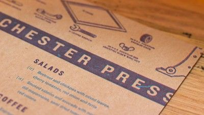 Manchester press letterpress menu4 business cards pinterest business cards reheart