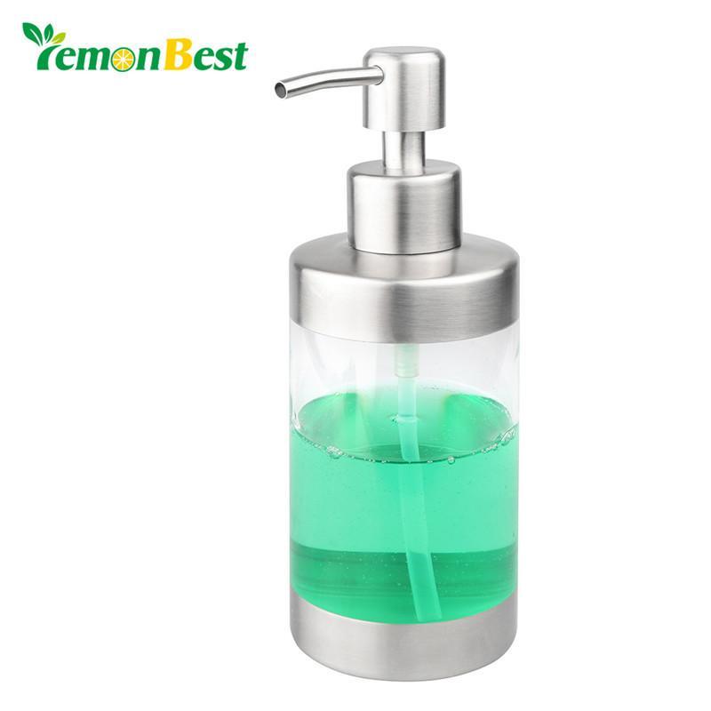 Lemonbest 350ml Stainless Steel Soap Dispenser Pump Lotion Dispenser For Kitchen Bathroom Sink Countertop Soap D Countertops Sink Countertop Best Kitchen Sinks