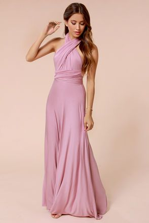 $68  LuLu*s Exclusive! Versatility at its finest, the Tricks of the Trade Mauve Maxi Dress knows a trick or two... or four!