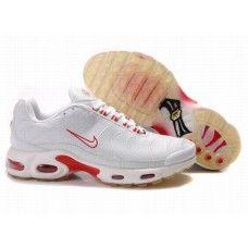 Hommes Nike Air Max TN Blanc/Rouge 88,98