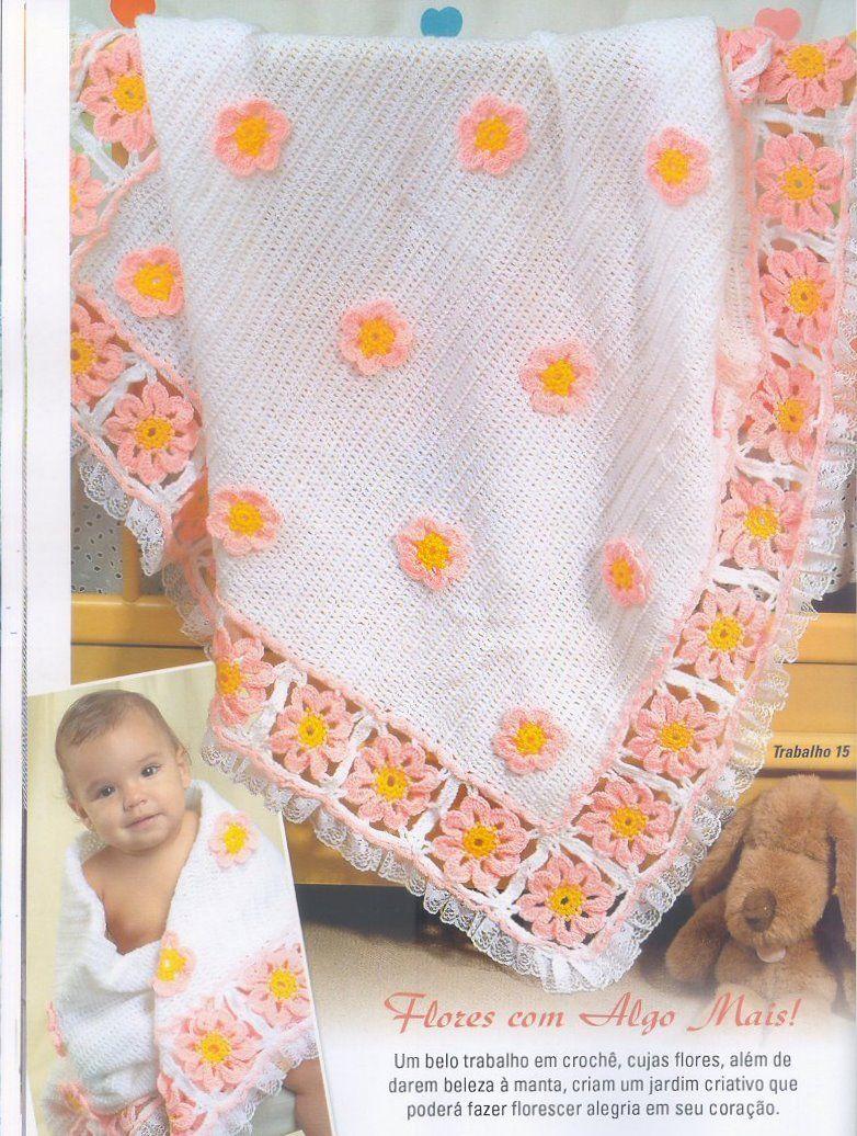 Receita Tricô Fácil Revista TRICOT Especial Mantas Crochê   Tricot 18  Lindas mantas para deixar seu 20e3424f397