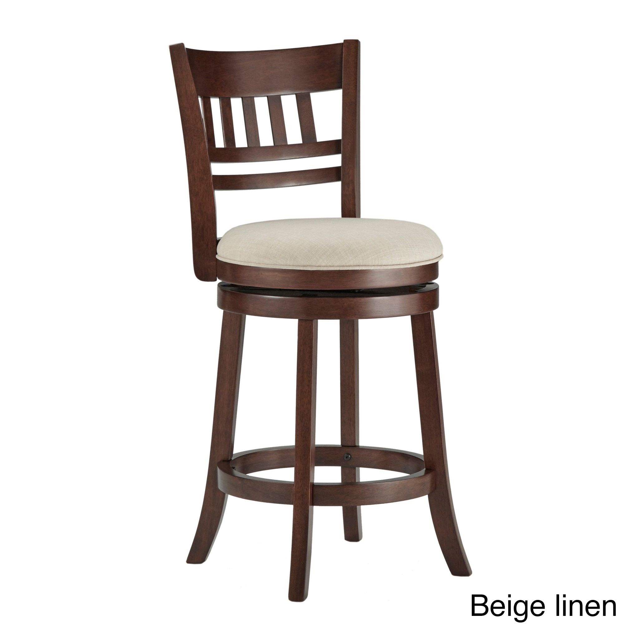Luxury Wood Swivel Bar Stool with Back