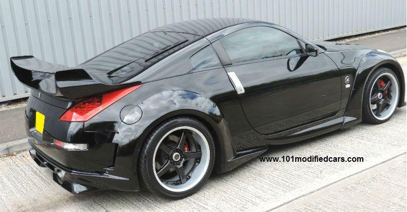 Modified Nissan 350z Veilside V3 Widebody Kit Rear Wheel Arch Side Skirt Nissan 350z Nissan Coupe
