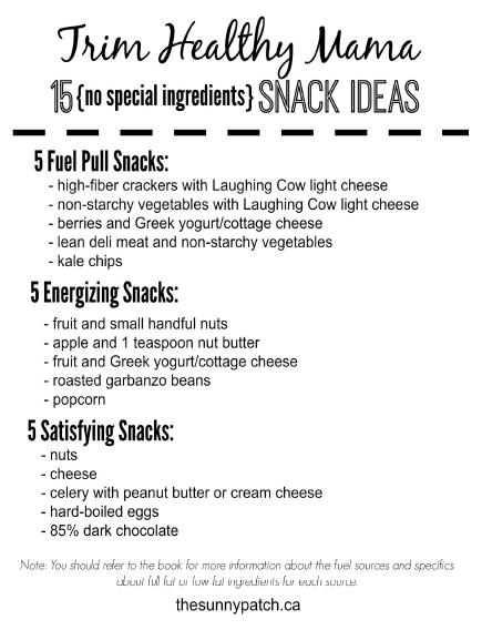 Trim Healthy Mama: Snacks {no special ingredients} — Happy Homeschool Nest ~ Balancing Home & Homeschool