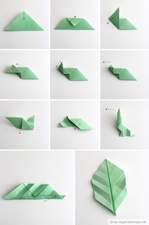 Origami Blaetter , Origami Blätter Pinterest
