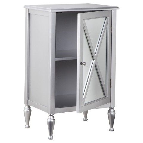 Hollywood Mirrored One Door Accent Cabinet Accent Doors Accent Cabinet Hollywood Mirror
