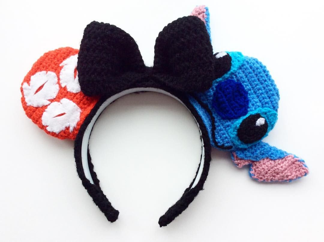 Crochet Lilo and Stitch inspired Disney ears