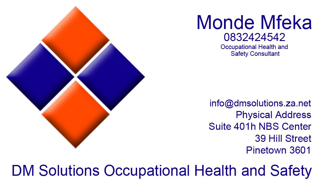 Business Card Design for DM Solutions - Health and Safety ...