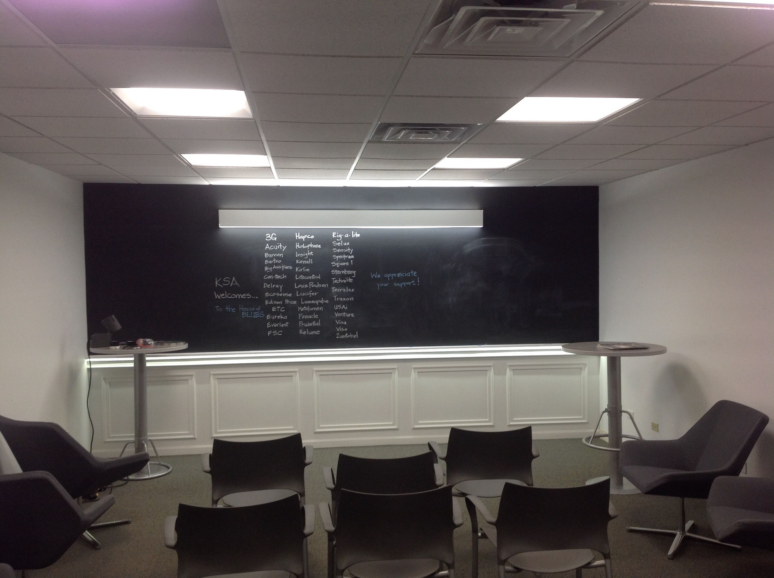 All Led Classroom Lighting At Ksa S Downtown Chicago Showroom Home Decor Light Project Home