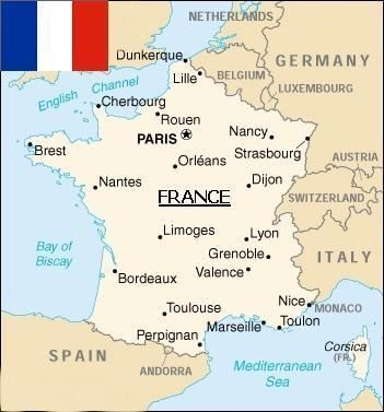 Map of France Paris Pinterest