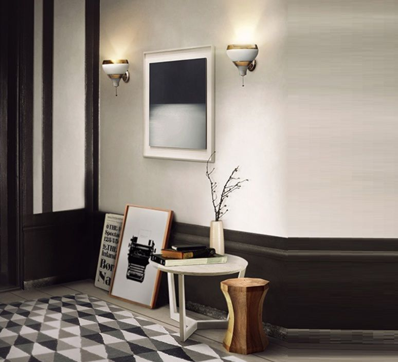 Applique murale Hanna blanc or H24cm DelightFull
