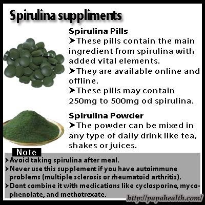 The Do's and Don'ts of Spirulina Weight Loss: Spirulina should be used for weight loss only after consulting with your doctor.