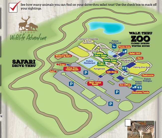 Aikman Wildlife Adventure Park Map Illinois Get Aways