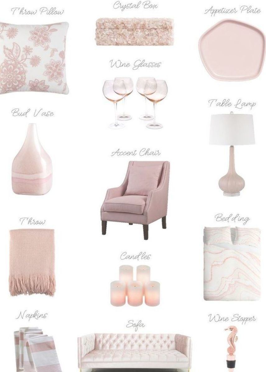 Blush Pink Accessories For The Home Blush Pink Home Decor Home Decors Pink Furnitures Cute And Girly Furni Pink Home Decor Home Decor Home Decor Styles