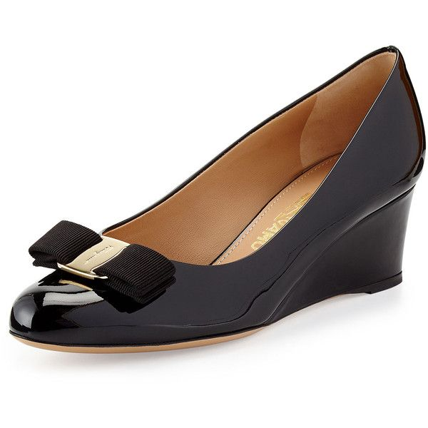 cheap find great big sale cheap price Salvatore Ferragamo Leather Peep-Toe Wedges cheap sale purchase cheap sale affordable many kinds of cheap online Fo6JJCOgdu