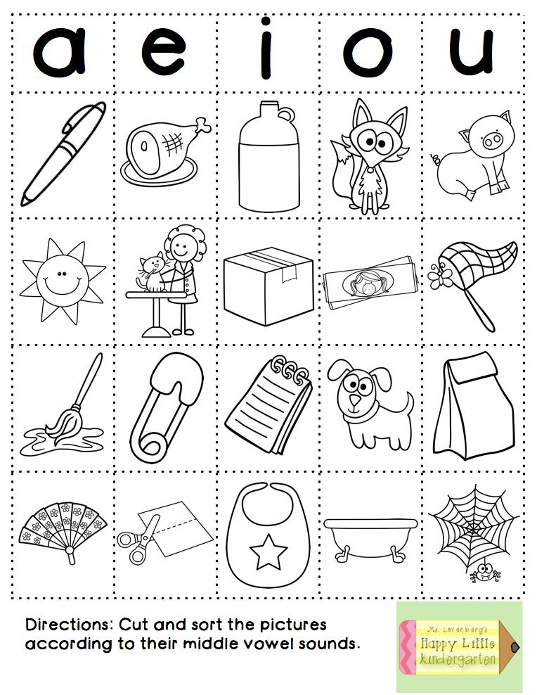 Short Vowel Worksheets : Fun with phonics word work style vowel sort