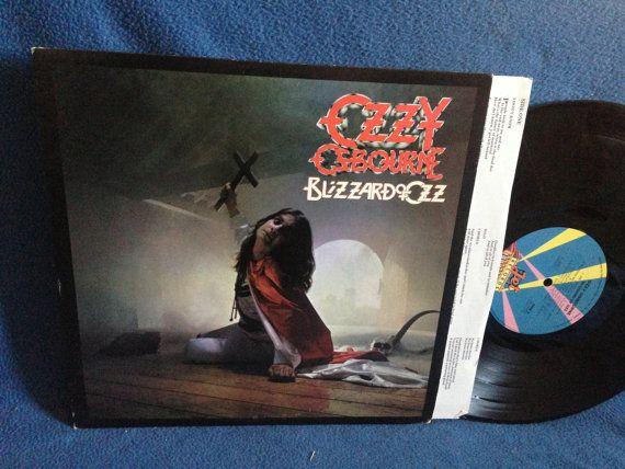 Rare Vintage Ozzy Osbourne Blizzard Of Ozz By Sweetleafvinyl Blizzard Of Ozz Vinyl Sales Ozzy Osbourne