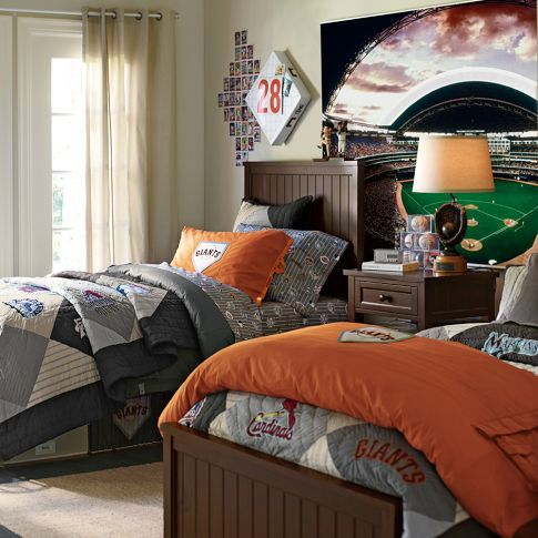 Baseball Decor Baseball Bedroom Decor & MLB Beadboard Room
