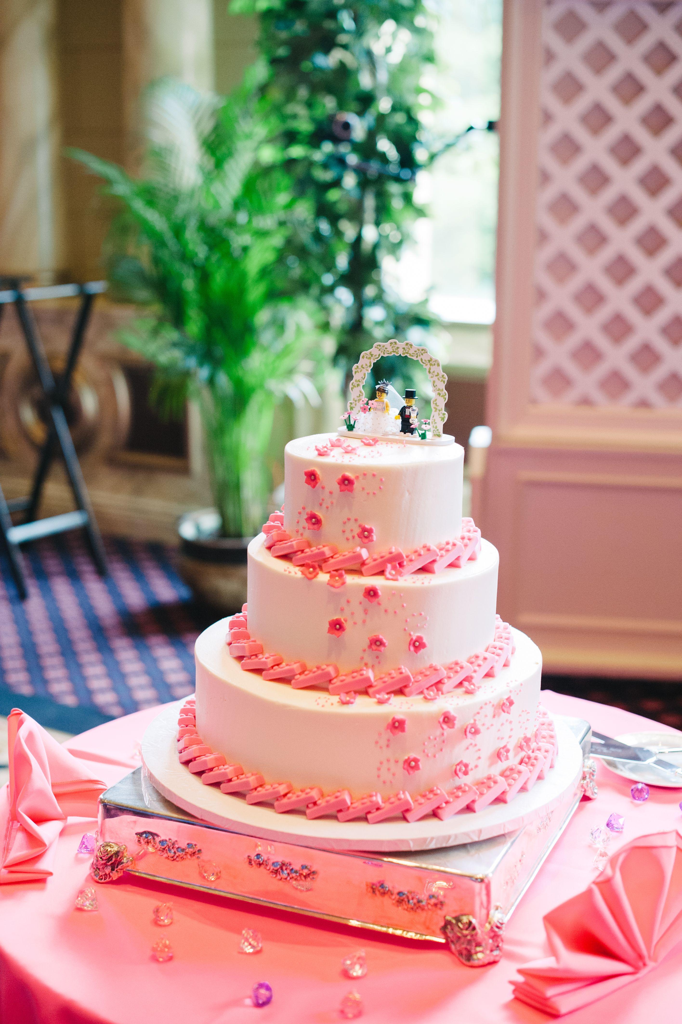 Custom Pink Lego Wedding Cake from Bakery Express/Ms. Desserts Pink ...