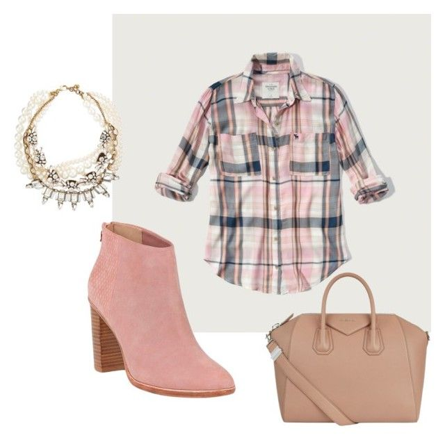 """""""Plaid and Pearls"""" by lawladyt on Polyvore featuring Abercrombie & Fitch, Ted Baker, Lulu Frost and Givenchy"""