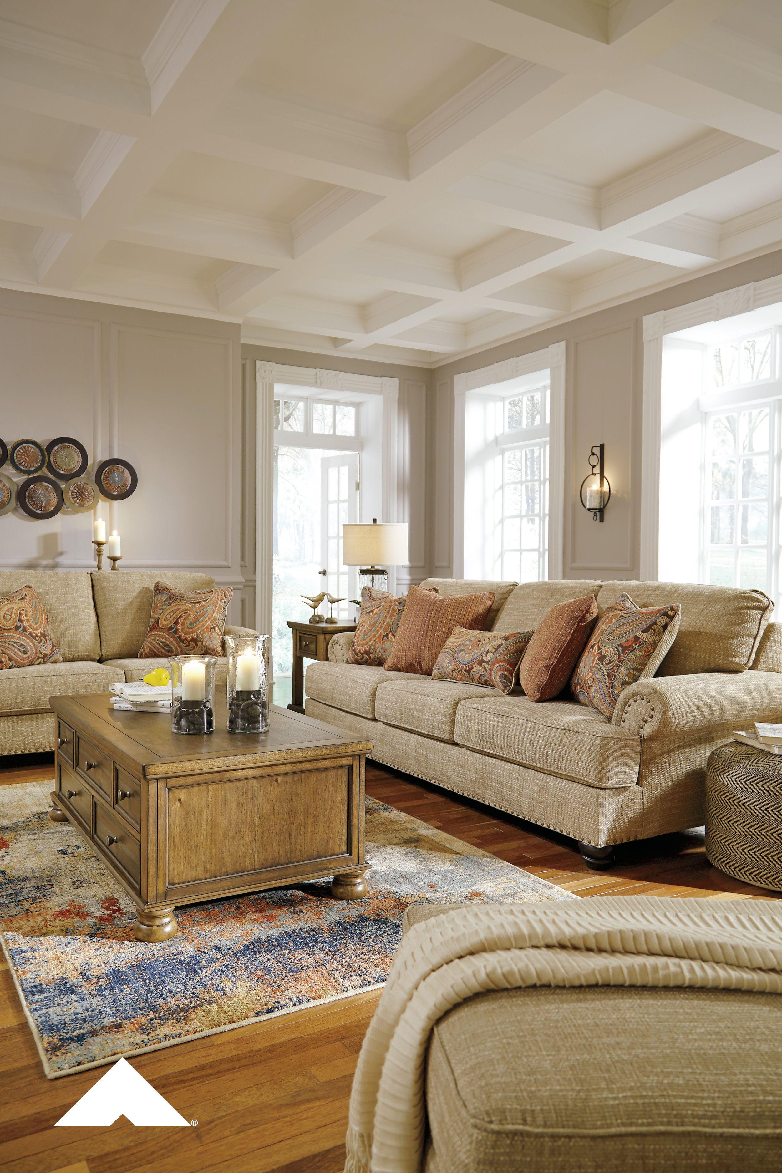 Candoro Oatmeal Living Room By Ashley Furniture Livingroomdecor Sofa Homeideas Livingroomid Ashley Furniture Living Room Furniture Blue Sofas Living Room