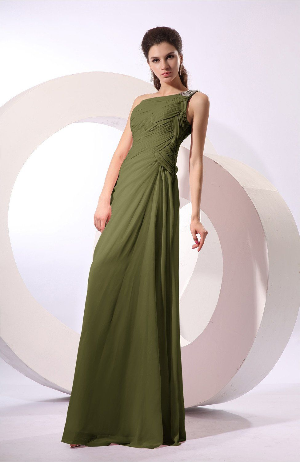 Olive green bridesmaid dress fairytale sheath zipper floor olive green bridesmaid dress fairytale sheath zipper floor length long rhinestone ombrellifo Images