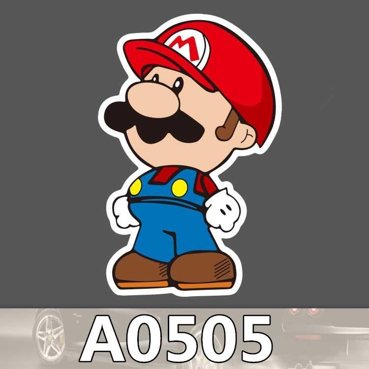 Nintendo super mario waterproof sticker for cars laptop luggage fridge skateboard graffiti cartoon notebook stickers