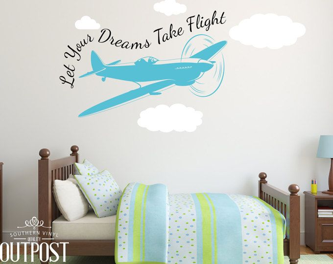 Kids Airplane Wall Decal Custom Vinyl Wall Decal Birds Decal - Custom vinyl wall decals nursery