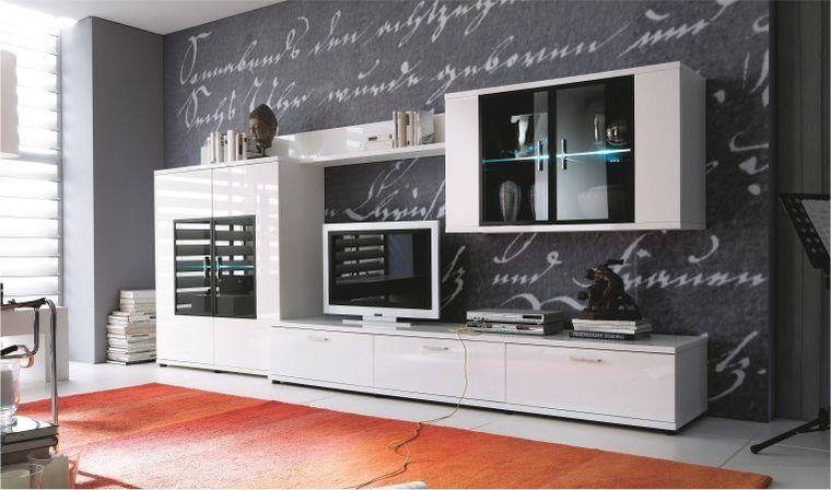 Ensemble Meubles Tv Complet Design Corano B Meubles De Salon Blanc Mobilier De Salon Meuble Salon Design